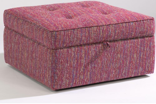 Flexsteel Accents Daphne Square Storage Ottoman