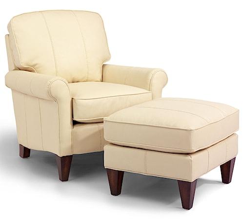 Flexsteel Accents Harvard Chair and Ottoman Set