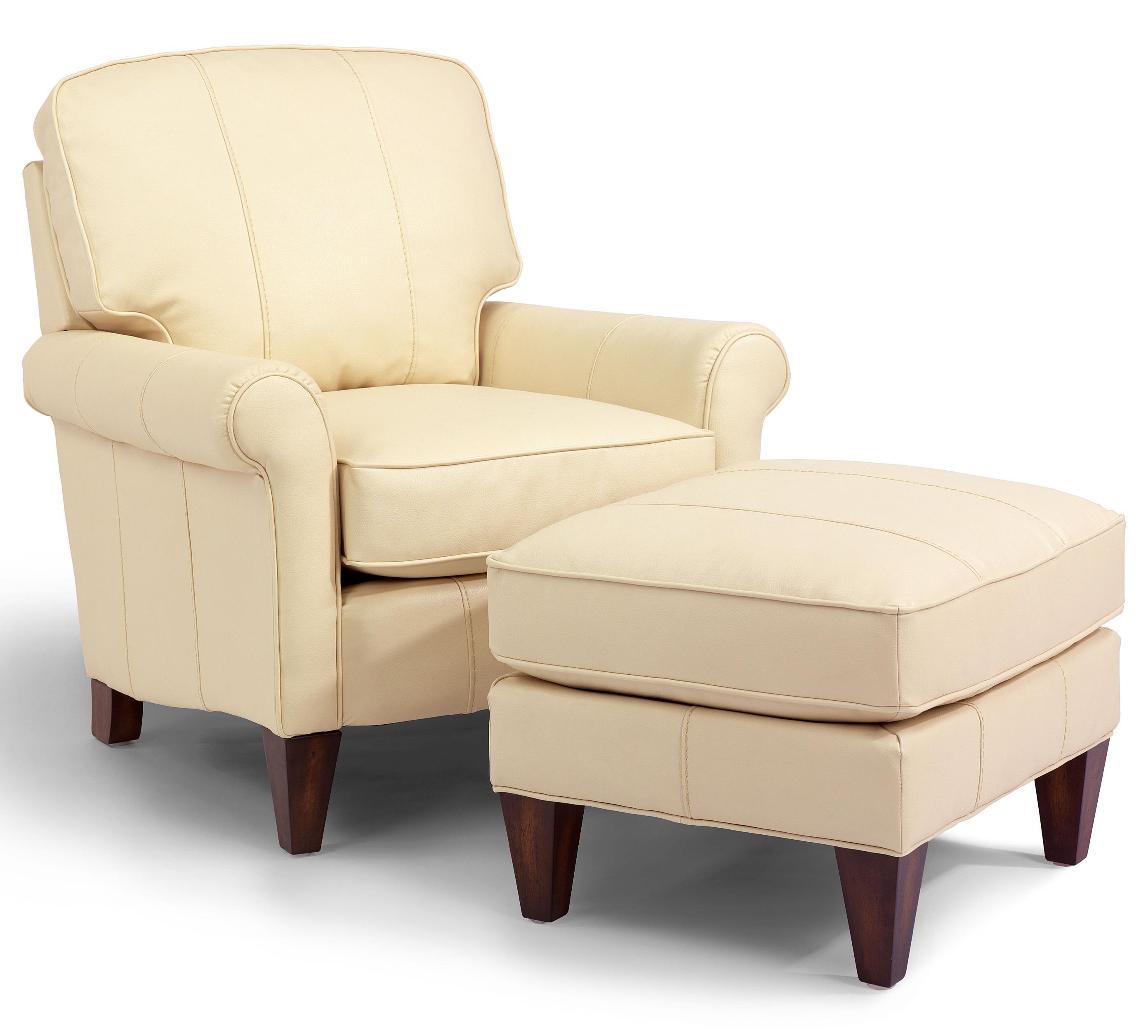 Flexsteel AccentsHarvard Chair U0026 Ottoman ...