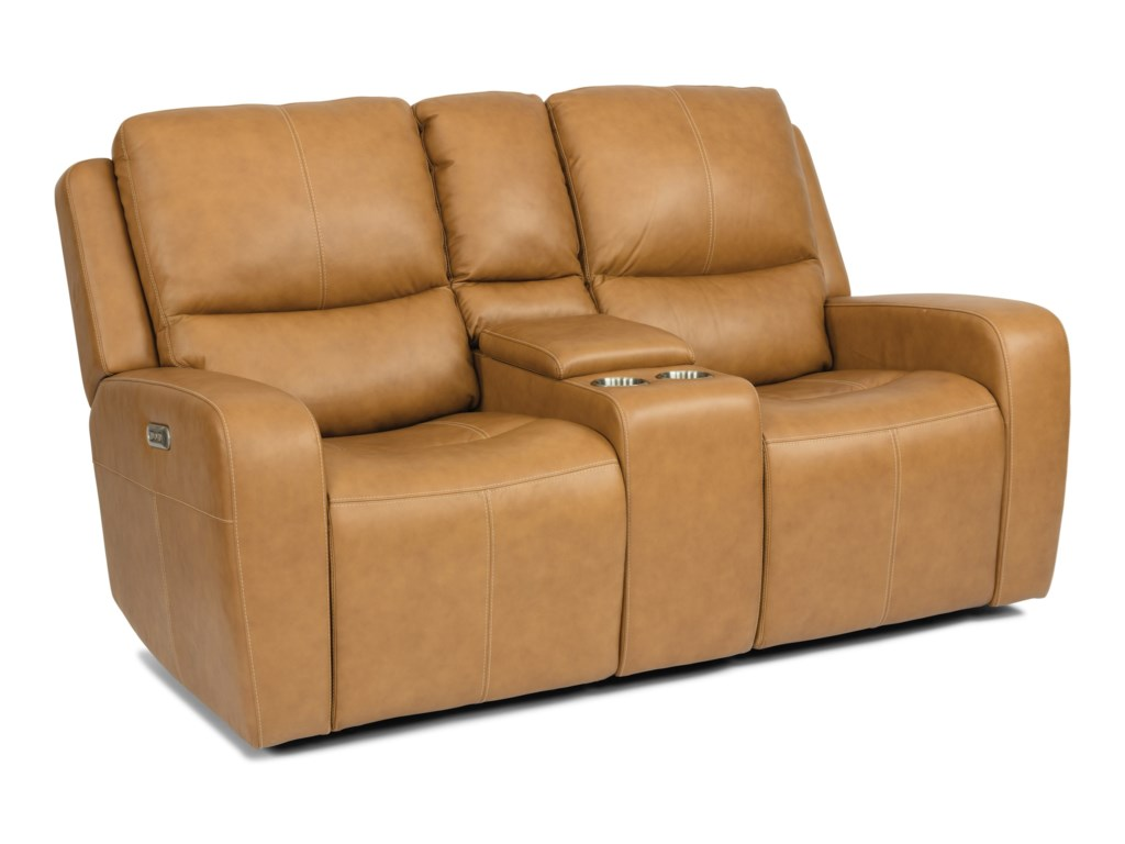 Flexsteel Latitudes - AidenPower Reclining Console Loveseat