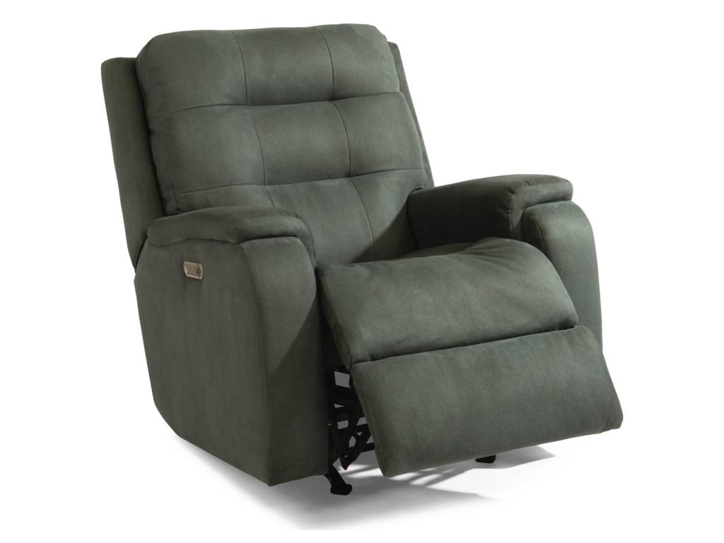 Flexsteel ArloPower Headrest and Lumbar Rocking Recliner