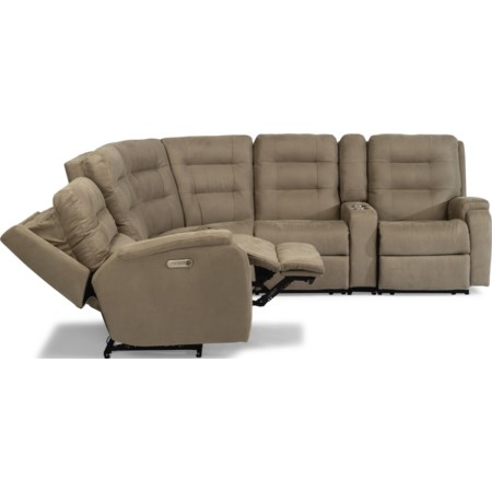 6-Piece Power Headrest Reclining Sectional
