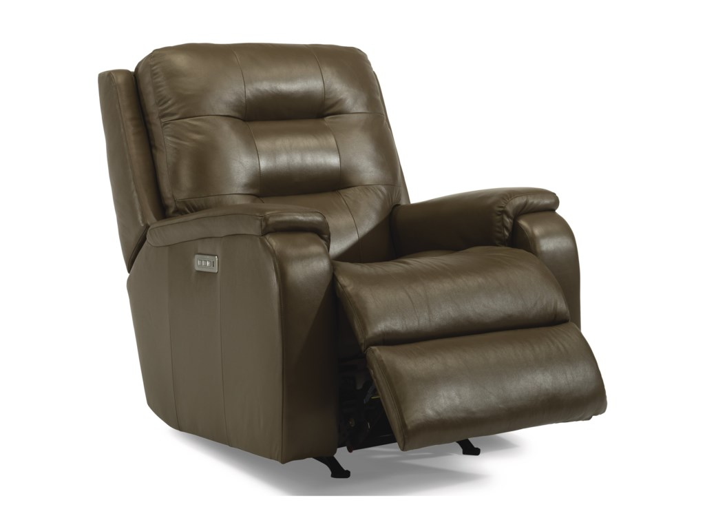 Flexsteel ArloPower Headrest and Lumbar Recliner