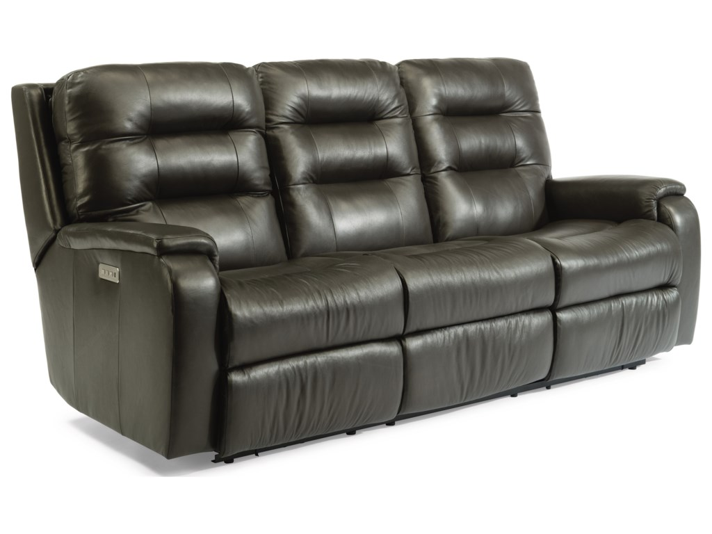 Flexsteel ArloPower Headrest Reclining Sofa