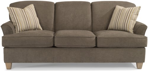 Flexsteel Atlantis Casual Sofa with Flared Arms