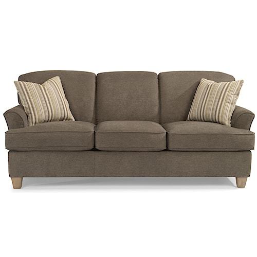 Flexsteel Atlantis Casual Sofa with Flared Arms
