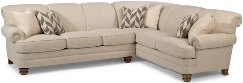 Flexsteel Bay Bridge 5 Seat Sectional with Left Arm Facing Sofa