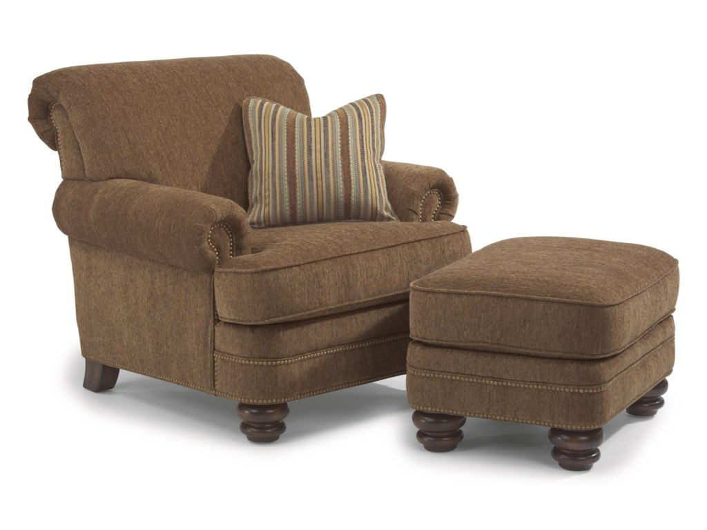 Flexsteel Bay BridgeChair & Ottoman Set