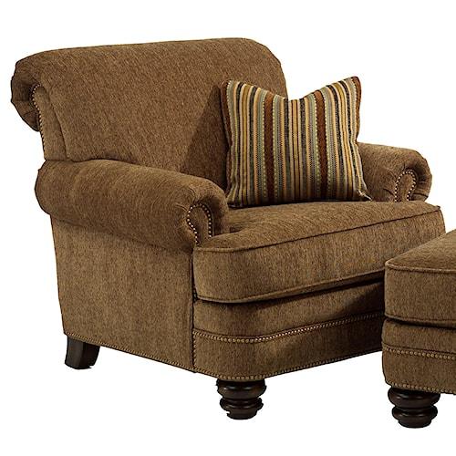 Flexsteel Bay Bridge Traditional Rolled Back Chair