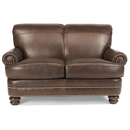 Flexsteel Knightsbridge Traditional Rolled Back Love Seat