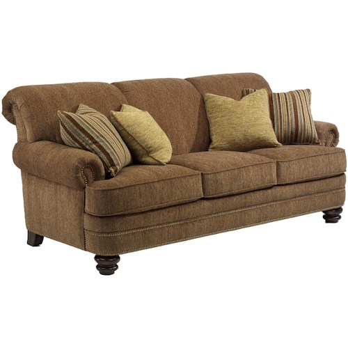 Flexsteel Vail Sofa Review: Flexsteel Bay Bridge Traditional Rolled Back Sofa