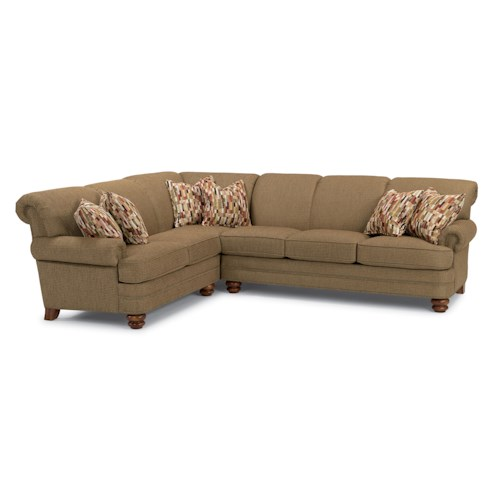 Flexsteel Bay Bridge Two Piece Sectional Sofa with LAF Corner Sofa