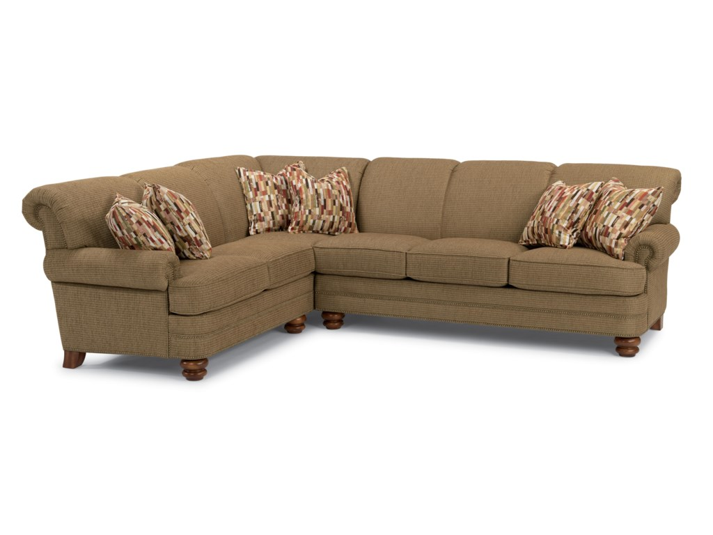 Flexsteel Bay Bridge Two Piece Sectional Sofa With Laf Corner Hudson S Furniture
