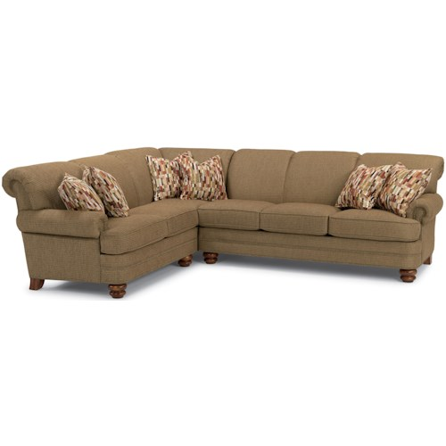 Flexsteel Bay Bridge Two Piece Sectional Sofa With LAF