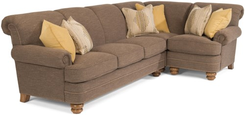 Flexsteel Bay Bridge Two Piece Sectional Sofa with RAF Corner Sofa