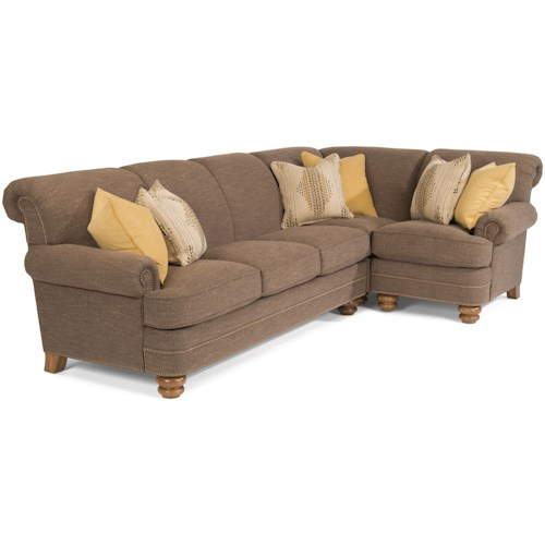 Flexsteel Bay Bridge Two Piece Sectional Sofa With RAF