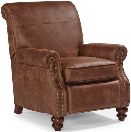 Flexsteel Bay Bridge Traditional High Leg Recliner with Rolled Back
