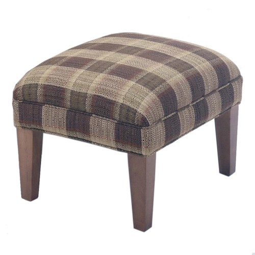 Flexsteel Bellingham Ottoman with Tapered Wood Legs