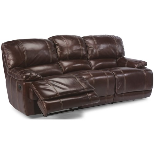 Flexsteel Latitudes - Belmont Power Reclining Sofa with Pillow Arms