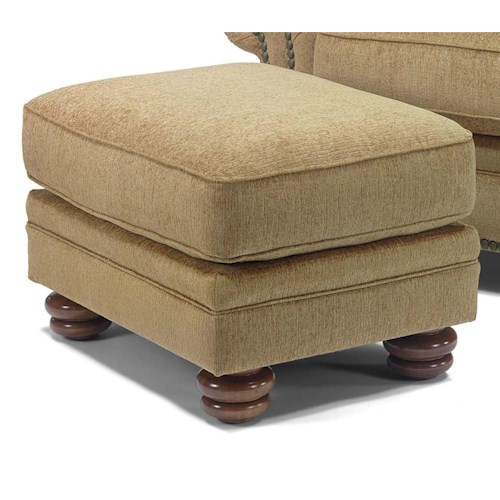 Flexsteel Bexley Traditional Ottoman