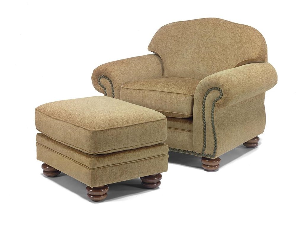 Flexsteel BexleyChair and Ottoman
