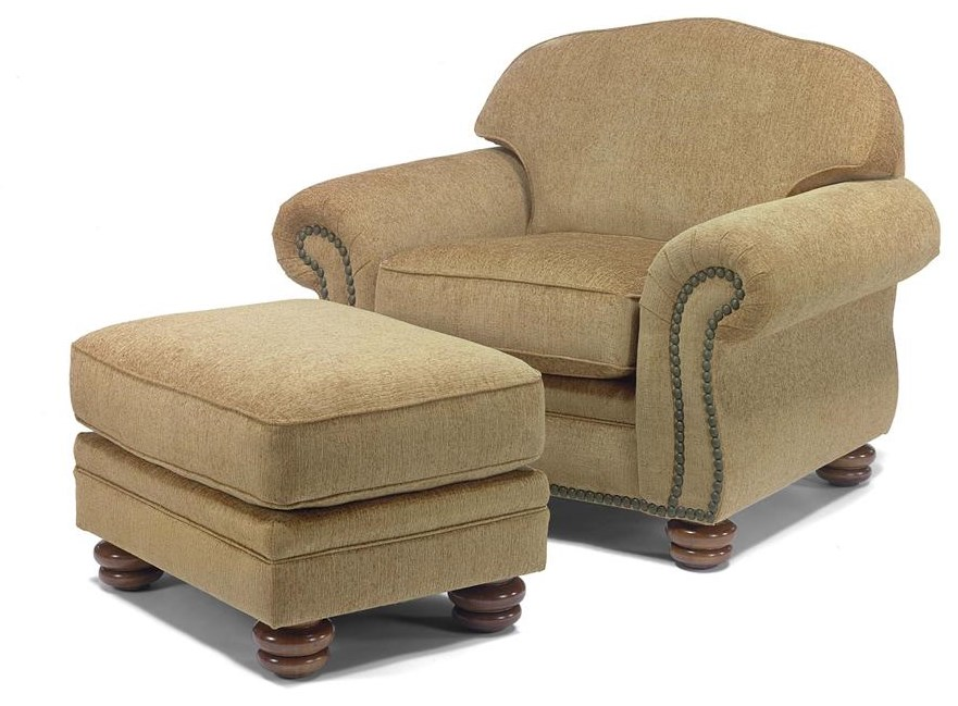 Chair Shown with Ottoman.