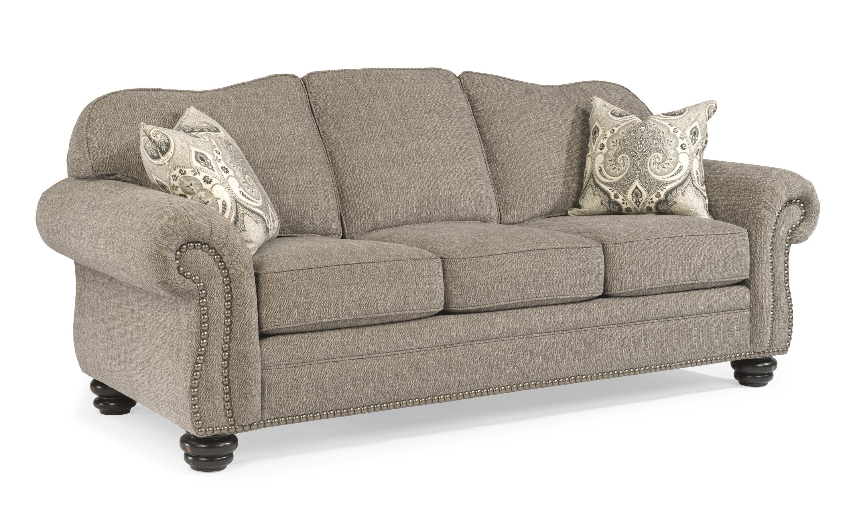 flexsteel bexley traditional sofa with nail head trim - Nailhead Sofa
