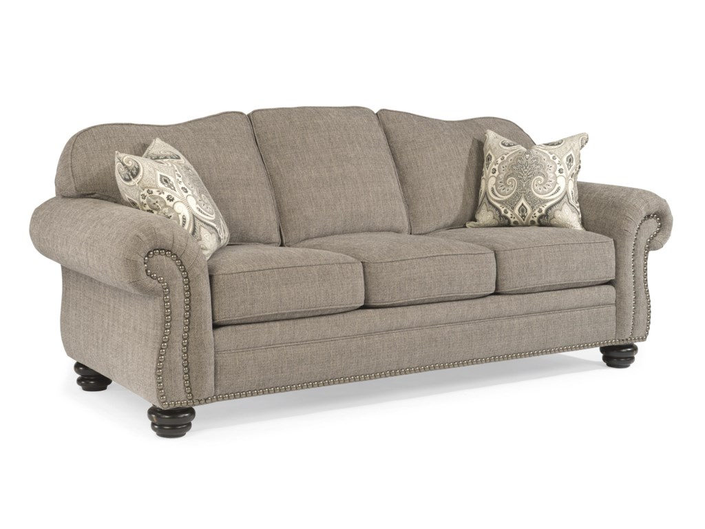Flexsteel Bexley Traditional Sofa with Nail Head Trim | Miskelly ...