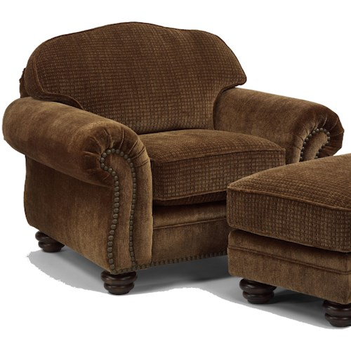 Flexsteel Bexley Traditional Chair with Nailhead Trim