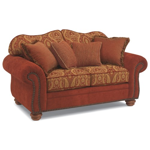 Flexsteel Bexley Melange Love Seat With Nails Belfort