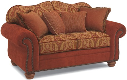 Flexsteel Bexley Melange Love Seat with Nails