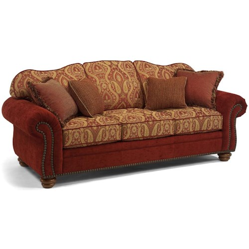 Flexsteel Bexley Traditional Sofa with Nail Head Trim