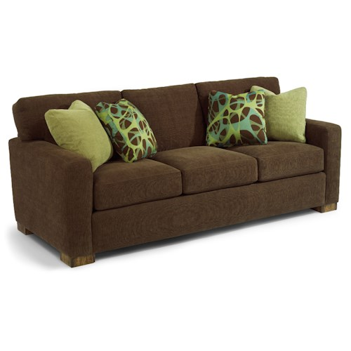 Flexsteel Bryant Contemporary Sofa with Loose Pillow Back
