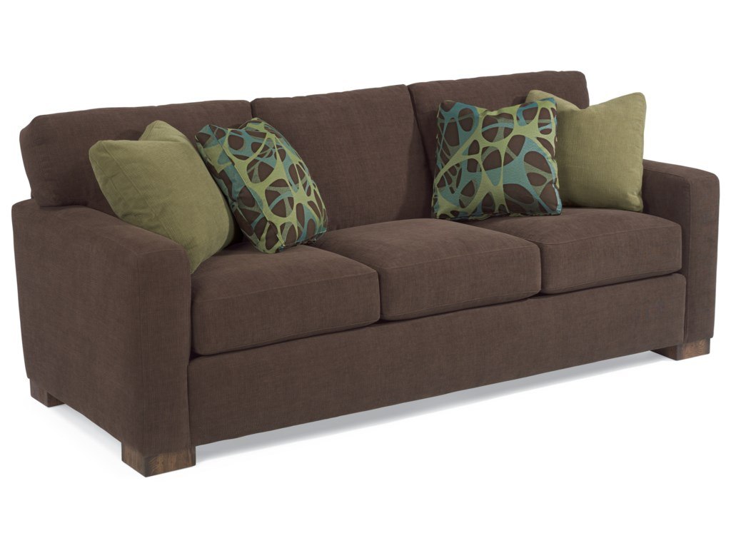 Landon Contemporary Sofa with Loose Pillow Back by Flexsteel at Crowley  Furniture & Mattress