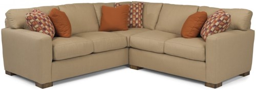 Flexsteel Bryant Contemporary 4 Seat Sectional Sofa