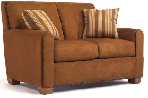 Flexsteel Bryant Contemporary Loveseat with Track Arms