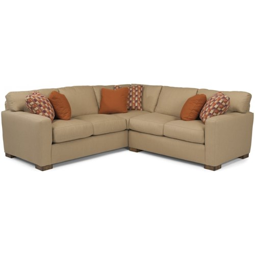 Flexsteel Bryant Contemporary 4 Seat Sectional with LAF Corner Sofa