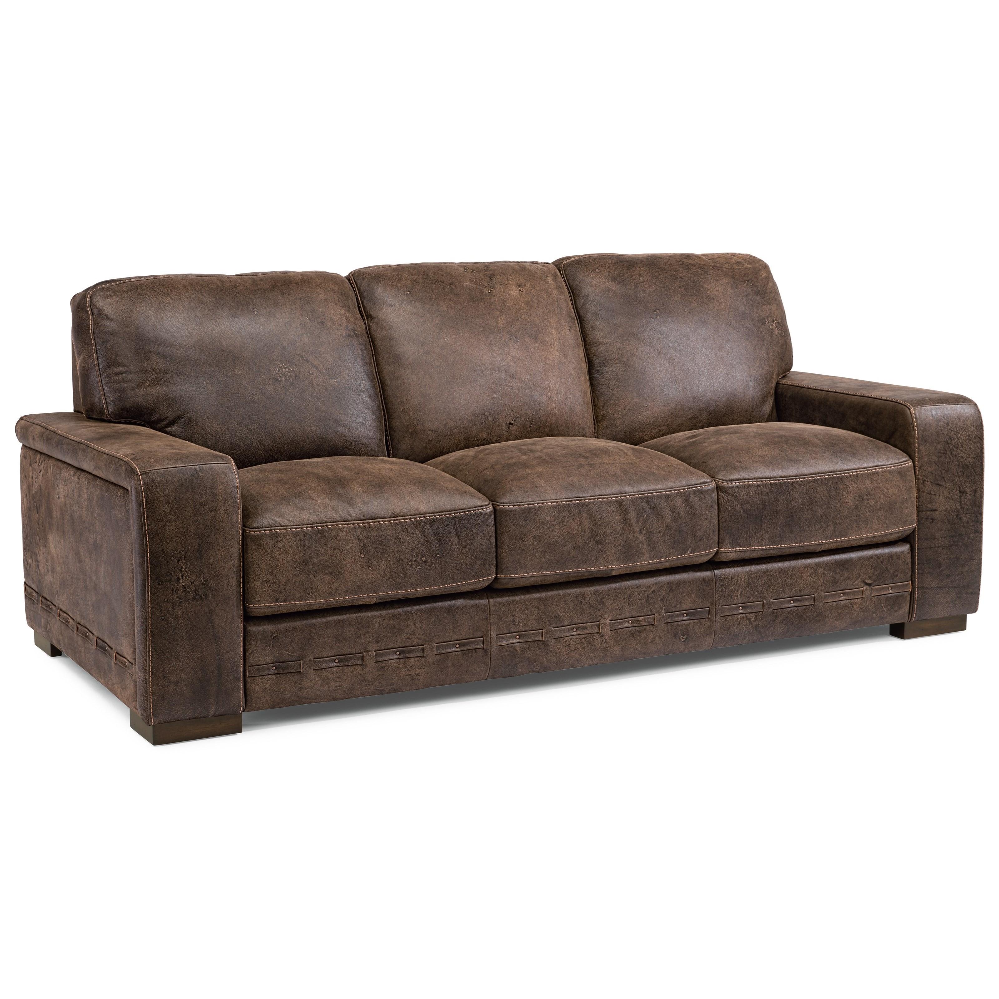 Flexsteel Latitudes   Buxton Contemporary Leather Sofa