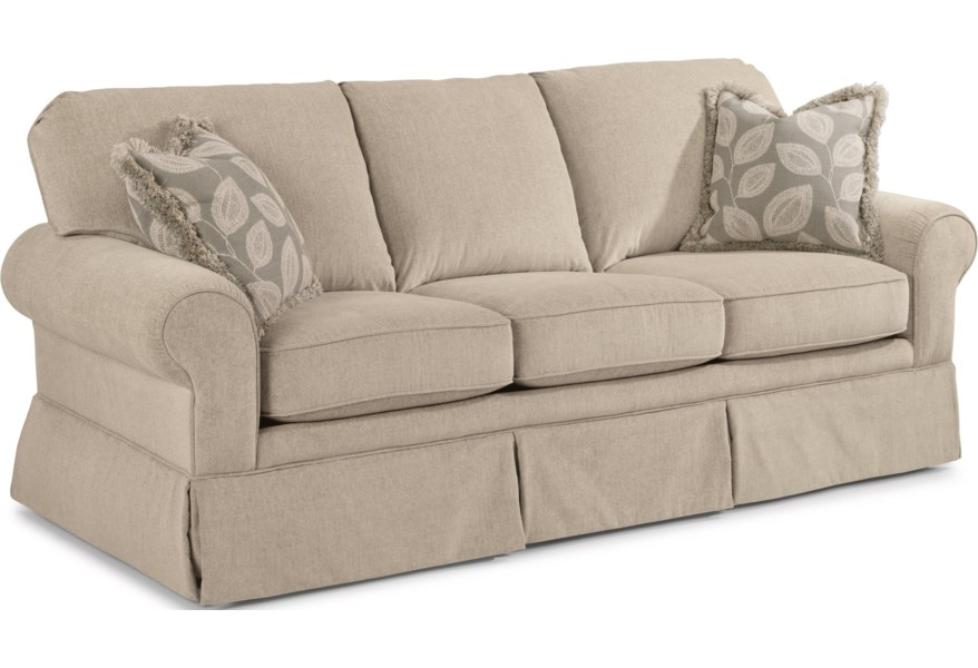 Camilla Casual Sofa With Skirted Base By Flexsteel At Dunk Bright Furniture