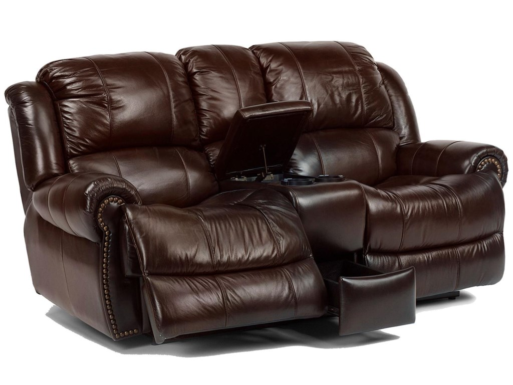 Flexsteel Latitudes - CapitolPower Love Seat with Console