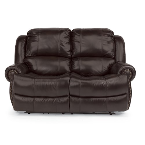 Flexsteel Latitudes - Capitol Traditional Styled Power Reclining Loveseat