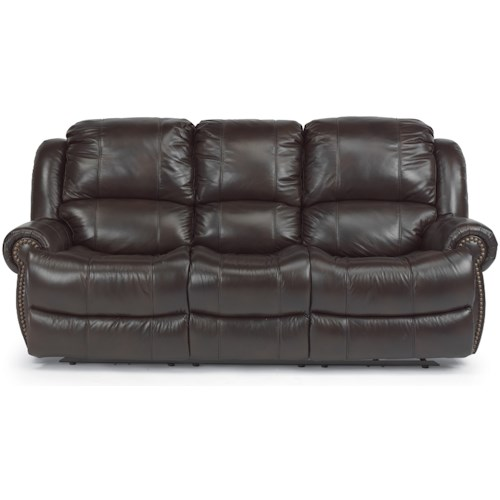 Flexsteel Capitol Reclining Sofa With Traditional Furniture Style