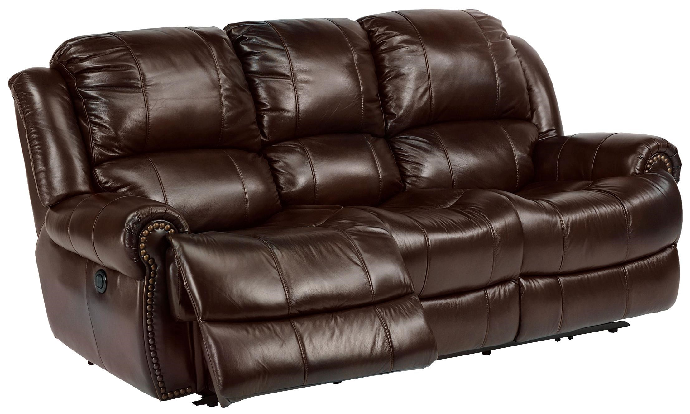 Flexsteel Latitudes   Capitol Power Reclining Sofa With Traditional  Furniture Style