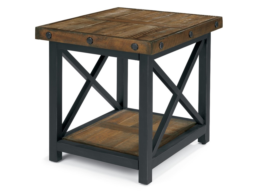 Flexsteel Wynwood Collection CarpenterRectangle End Table