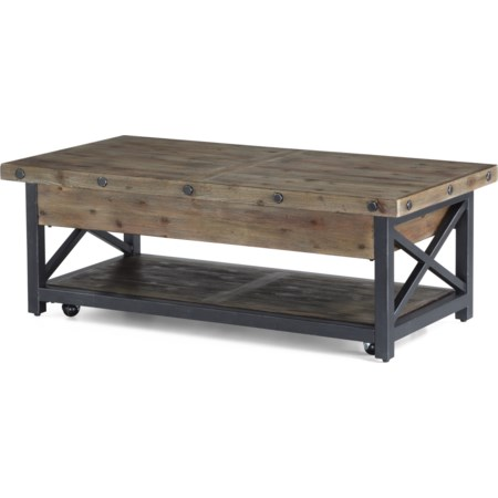 Rectangle Lift-Top Cocktail Table
