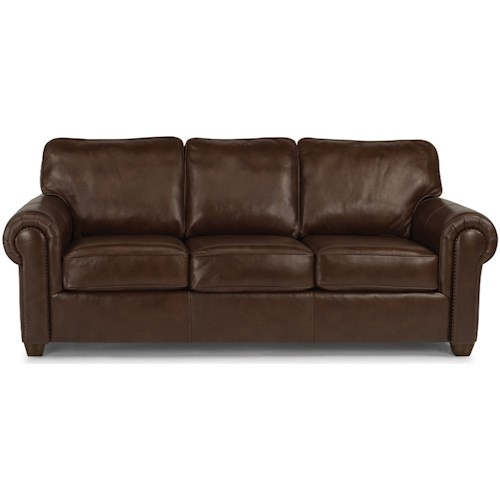 Flexsteel Carson Customizable Sofa with Rolled Arms