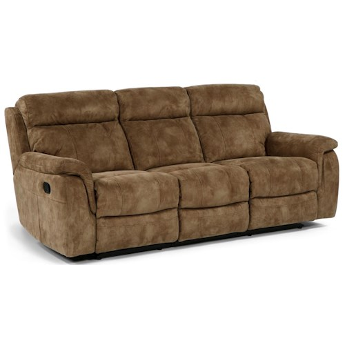 Flexsteel Latitudes - Casino Double Reclining Sofa with Pillow Arms
