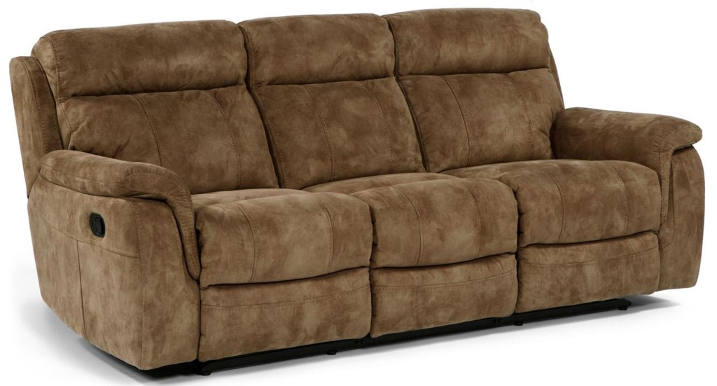 Flexsteel Latitudes - Casino Double Reclining Sofa With Pillow Arms - Dunk  & Bright Furniture - Reclining Sofas