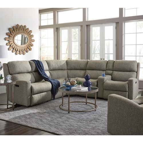 Flexsteel Catalina Six Piece Reclining Sectional Sofa