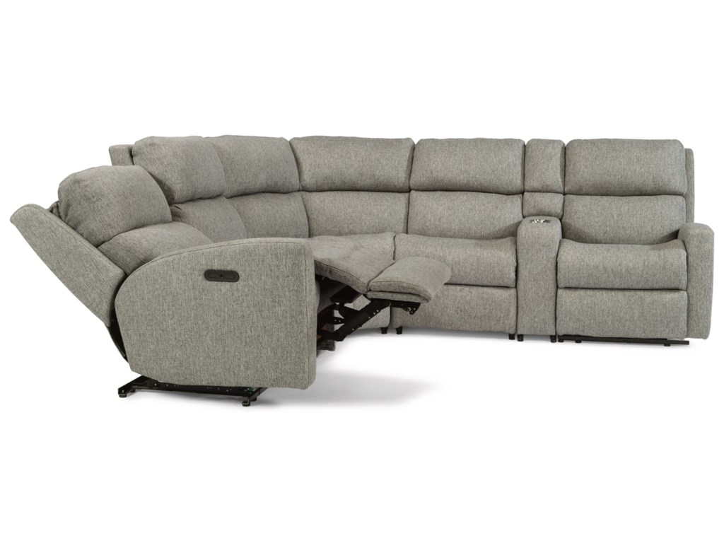 Flexsteel Catalina6 Piece Manual Reclining Sectional